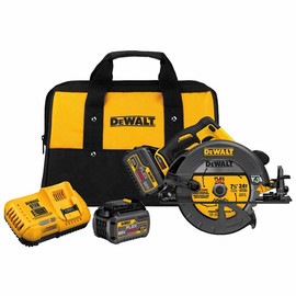 "DeWalt -  FLEXVOLT™ 60V MAX* 7-1/4"" (184MM) CIRCULAR SAW W/BRAKE KIT (INCLUDES 2 60V LION BATTERY AND FAST CHARGER) - DCS575T2"