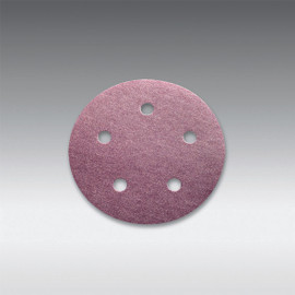 "Sia Abrasives - 5"", 5 hole Velcro Sanding Disc 80 Grit Box/100Pcs"