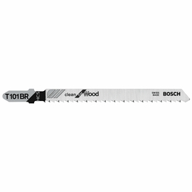 Bosch T101BR - Jig Saw Blade, T-Shank, 5 pc. 4 In. 10 TPI Reverse Pitch Clean for Wood