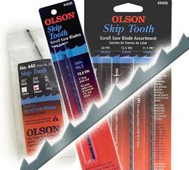 """Olson -  Scroll Saw Blades, 5"""" Skip Tooth, 11.5 TPI - 44800"""