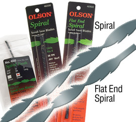 "Olson -  Scroll Saw Blades, 5"" Plain End Spiral Tooth, 36 TPI - 46500"