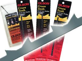"Olson -  Scroll Saw Blades, 5"" Crown Tooth, 6 TPI - 62900"