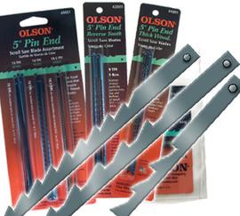"""Olson -  Scroll Saw Blades, 5"""" Pin End, 10 TPI - 41201"""