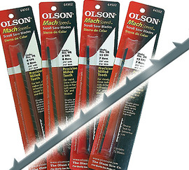 "Olson -  Scroll Saw Blades, 5"" Mach Speed, 8 TPI - 64702"