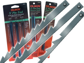 "Olson -  Scroll Saw Blades, 5"" Pin End Assortment Blades - 15 TPI, 10 TPI, 18.5 TPI - 49501"