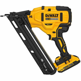 Dewalt -  20V MAX* XR® 15 GA CORDLESS ANGLED FINISH NAILER KIT - DCN650D1