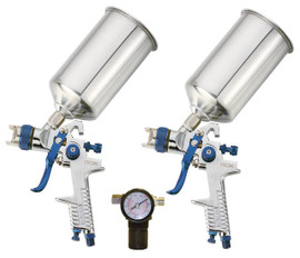 Samona/ROK -  2 HVLP Spray Gun with Regulator - 18903