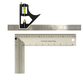 "Samona/ROK -   12"" Combination Square & 10"" Aluminum Try Square - 28416"