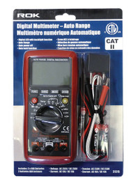 Samona/ROK -  Digital Multimeter Auto Range - 31315