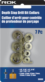 Samona/ROK -  7 Pc Depth Stop Drill Bit Collars - 36900