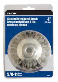 "Samona/ROK -  Wire Bevel Brush 4"" Knot - 45117"