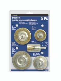 Samona/ROK -  5 Pc Brush Set Brass Coated Wire - 45202
