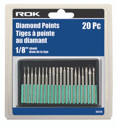 "Samona/ROK -  20 Pc Diamond Points 1/8"" Shank - 48320"