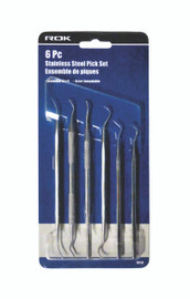 Samona/ROK -  6 Pc Stainless Steel Pick Set - 70116