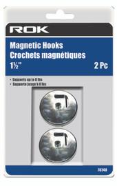 """Samona/ROK -  Magnetic Hooks 1-1/2"""" 8lb - 70240"""