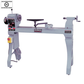 "KING KWL-1643ABC - 16"" x 43"" Wood lathe with electronic variable speed"
