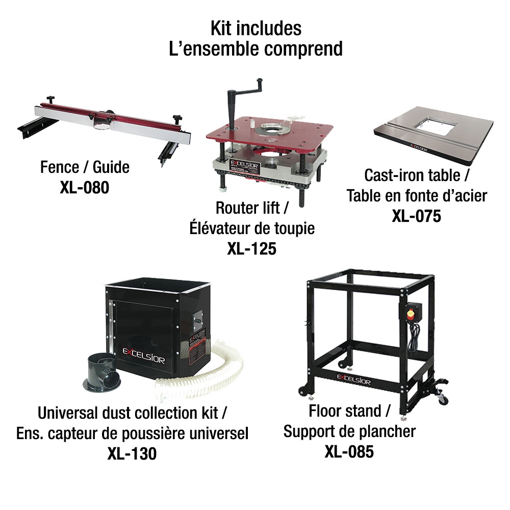 Brilliant King Xl 200C Router Table Kit Cast Iron Table Includes Xl 125 Xl 075 Xl 130 Xl 080 Xl 085 Machost Co Dining Chair Design Ideas Machostcouk
