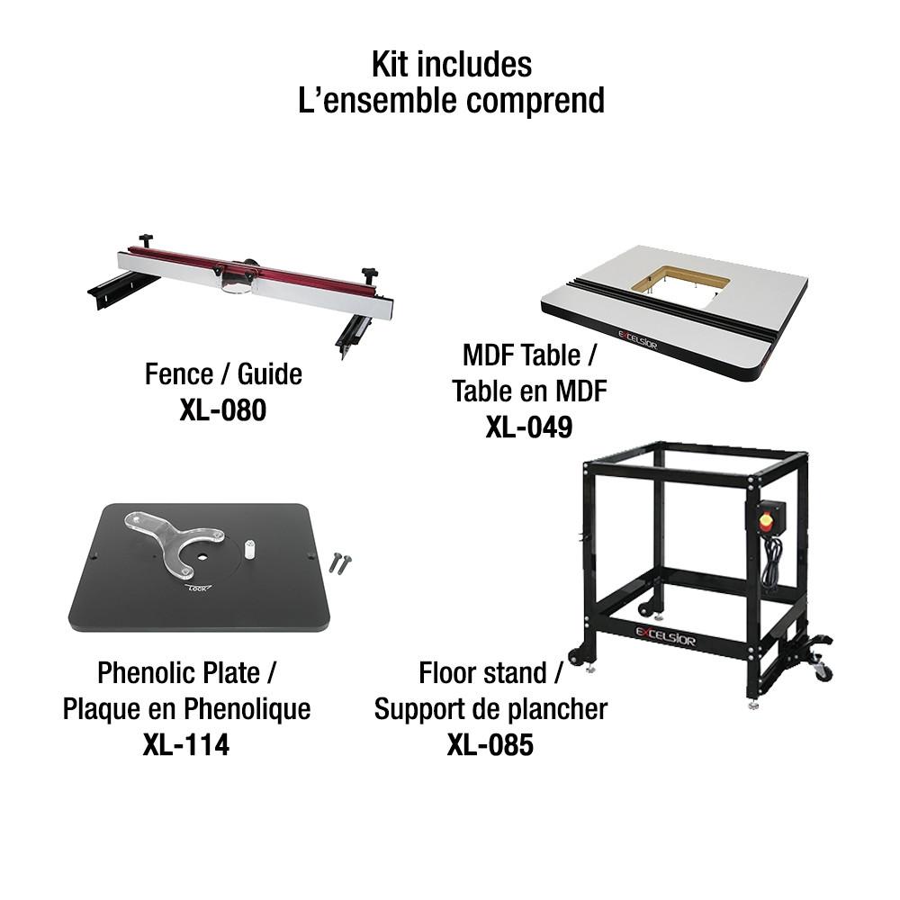 Astonishing King Xl 200Mep Router Table Kit Mep Table Includes Xl 049 Xl 080 Xl 085 Xl 114 Machost Co Dining Chair Design Ideas Machostcouk