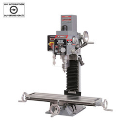 KING KC-20VS-2 - Milling drilling machine with digital readout - with limit switch