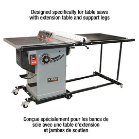 KING KMB-1390X - Heavy-duty universal mobile base for table saws