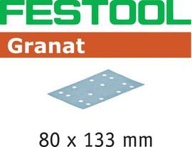 Festool Grit Abrasives STF 80x133 P80 GR/10 Granat