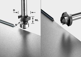 Festool Roundover cutter S8 HW R2 D20-KL OFK