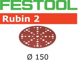 Festool Grit Abrasives STF D150/48 P150 RU2/10 Rubin 2