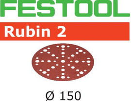 Festool Grit Abrasives STF D150/48 P100 RU2/50 Rubin 2