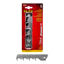 Olfa HH-12B - 25mm Snap-off Hook Blades 3/pk - NEW