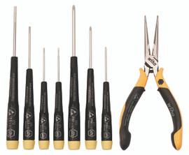 Wiha 27398 - Precision ESD Safe Slt/Ph & Pliers Set