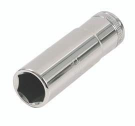 "1/4"" Dr. Deep Socket Inch, 6 Pt, 12.0mm"