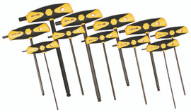Wiha 33494 - Soft Grip Inch Hex T-Handle 11 Pc. Set