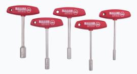 Wiha 33691 - T-Handle Metric Nut Driver 5 Pc. Set