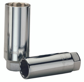 "Wiha 33878 - 1/2"" Drive Deep Socket, 12 Point, 22.0mm"