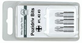 Wiha 71254 - PoziDriv Insert Bit #1 - 3 x 25mm 3 Pc