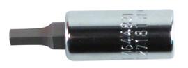 Wiha 71319 - Hex Metric Bit Socket 1/4 Sq Drive 6.0mm