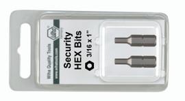 Wiha 71974 - Security Hex Insert Bit 9/64 x 25mm 2Pk