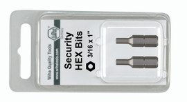 Wiha 71982 - Security Hex Insert Bit 4.0 x 25mm 2Pk