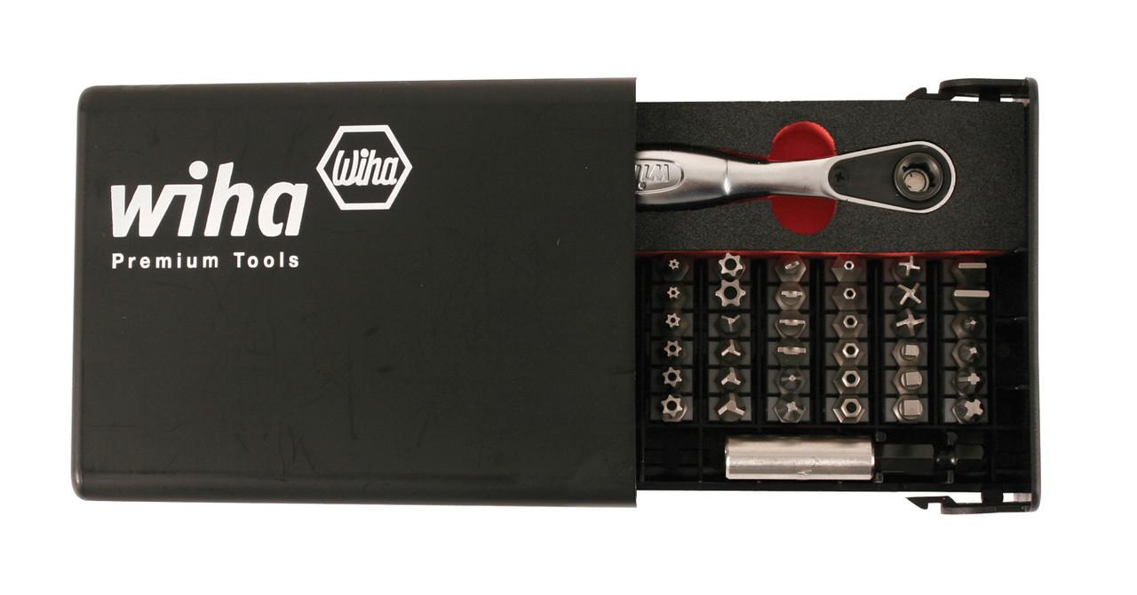 35 pieces Wiha 74996 Slotted//Phillips//Square//Torx®//Hex Bit Set w// Accessories