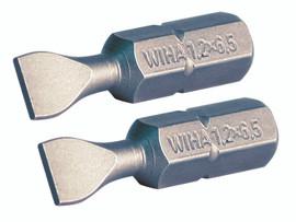 Wiha 73905 - Slotted Power Bit 2.5x70mm 2 Pk
