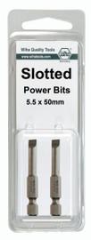 Wiha 74067 - Slotted Power Bit 6.5 x 50mm 2Pk