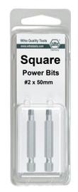 Wiha 74861 - Square Power Bit #2 x 50mm 2Pk