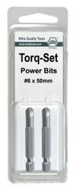 Wiha 74967 - Torq-Set Power Bit #8 x 50mm 2Pk