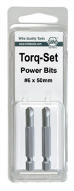 Wiha 74968 - Torq-Set Power Bit #10 x 50mm 2Pk