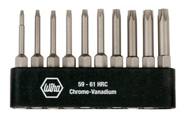 Wiha 74985 - Torx® Power Bit Belt Pack 10 Pcs Set