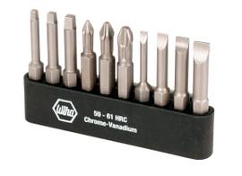 Wiha 74988 - Sl/Ph/Sq Power Bit Belt Pack 10 PcSet