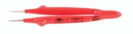 """Wiha 75205 - Insulated Tweezers Straight Fine 5"""" Oal"""
