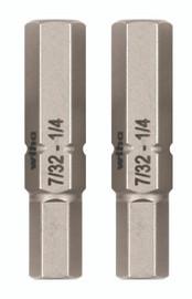 Wiha 77726 - Hex Inch Double End Bit 2 Pack