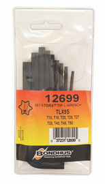 Bondhus 12699 - 9 Piece Torx L-wrench Set - Long Arm - Sizes: T10 - T50