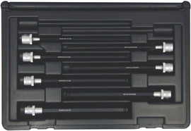"Bondhus 30845 - 7 Piece ProHold Ball Bit Set, With Sockets, 6"" Length - Sizes: 1/8-3/8"""